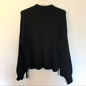 Black Sweater with Tied Sides